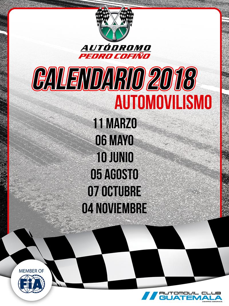 Calendario 2018 - autos
